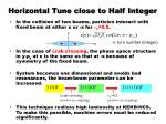 horizontal tune close to half integer