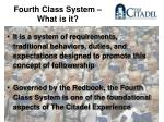 fourth class system what is it