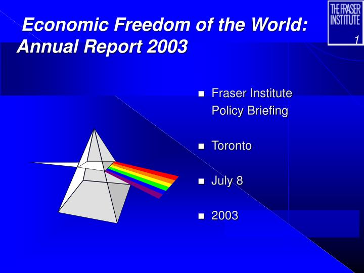 economic freedom of the world annual report 2003 n.