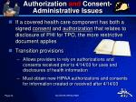 authorization and consent administrative issues1