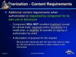 authorization content requirements8