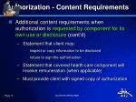 authorization content requirements9