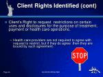 client rights identified cont2