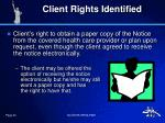 client rights identified
