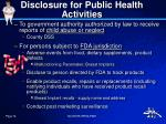 disclosure for public health activities1