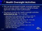 health oversight activities