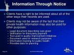 information through notice