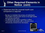 other required elements in notice cont