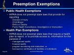 preemption exemptions1