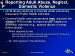 reporting adult abuse neglect domestic violence
