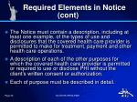required elements in notice cont