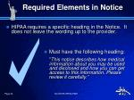 required elements in notice