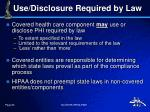 use disclosure required by law