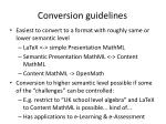 conversion guidelines