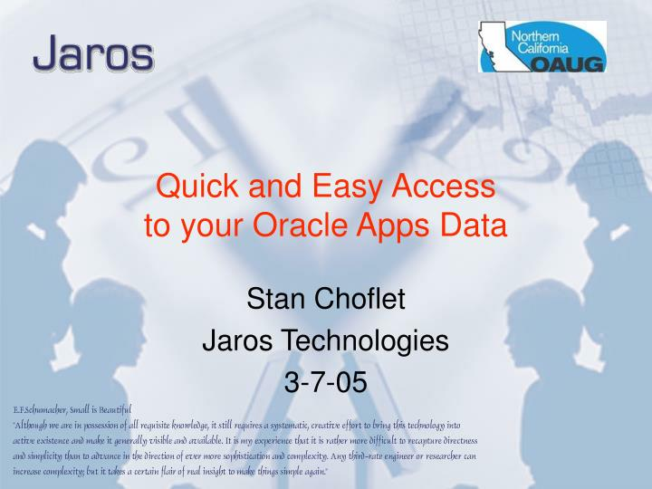 Quick and easy access to your oracle apps data