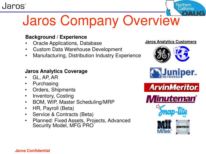 Jaros Company Overview