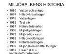 milj balkens historia