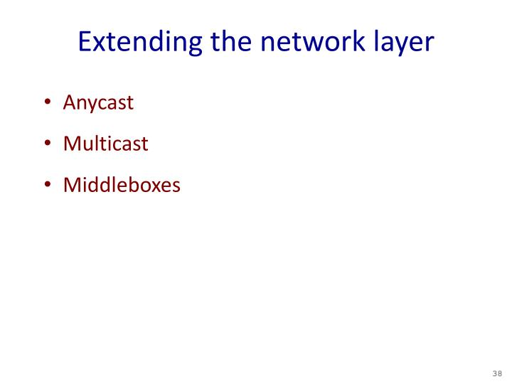 Extending the network layer