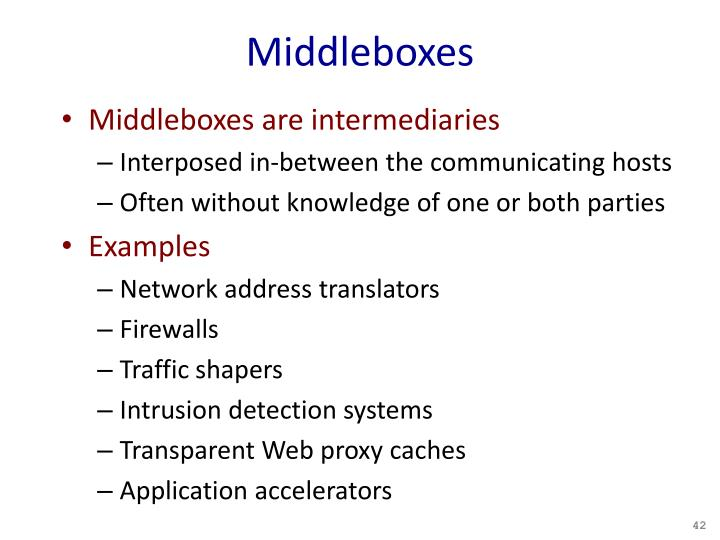 Middleboxes