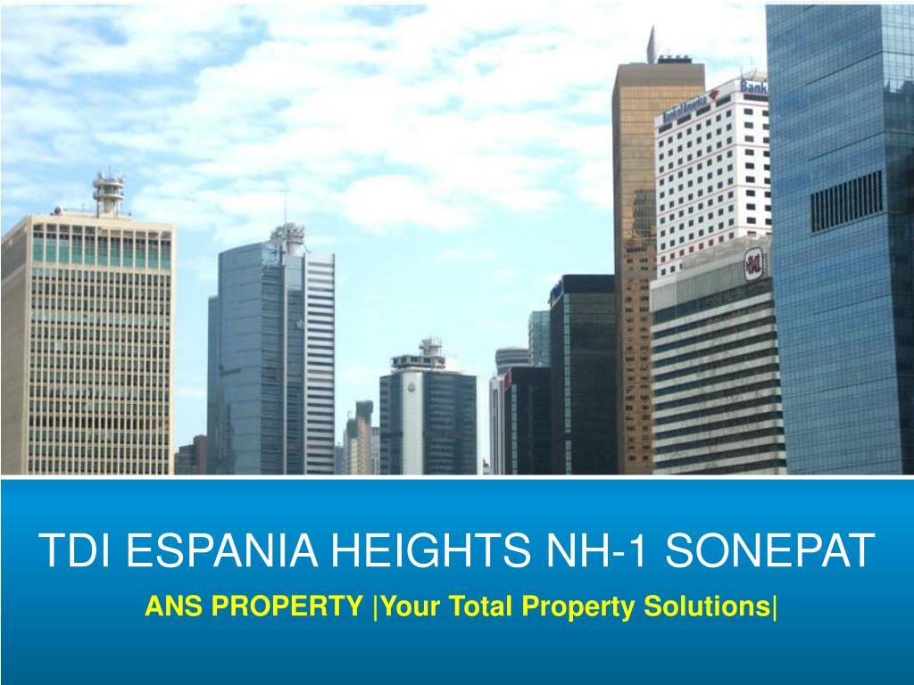 TDI ESPANIA HEIGHTS NH-1 SONEPAT