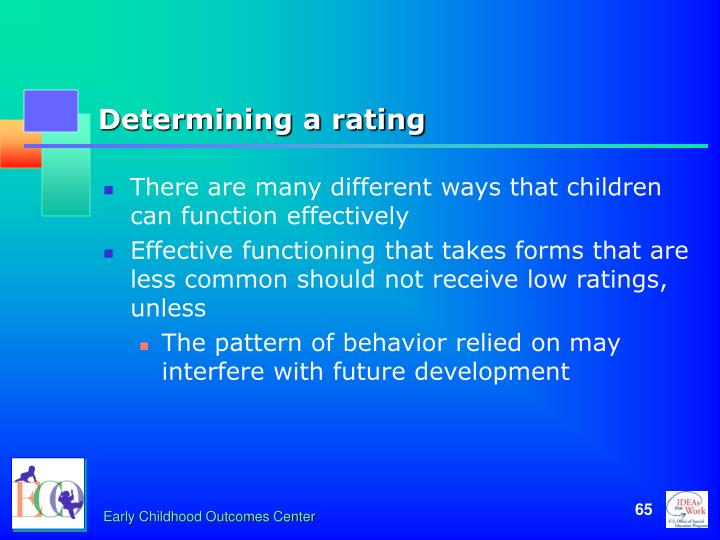 Determining a rating