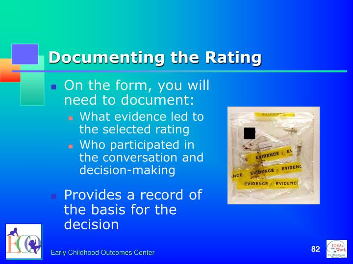 Documenting the Rating
