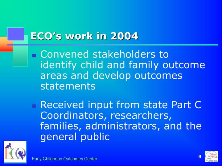 ECO's work in 2004