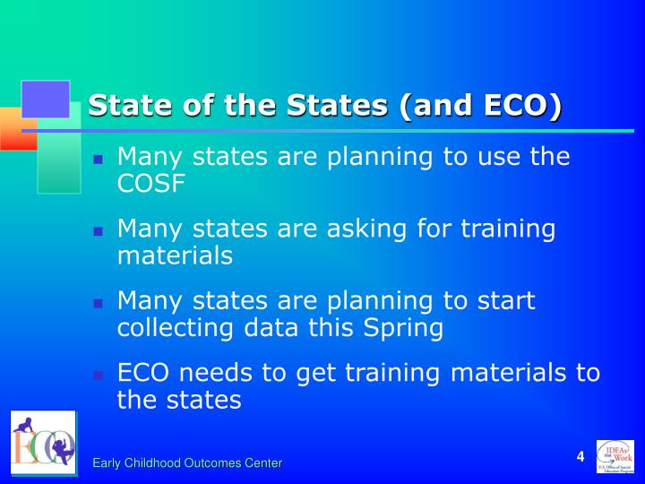 State of the States (and ECO)