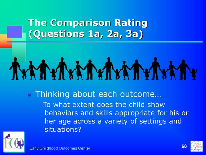 The Comparison Rating (Questions 1a, 2a, 3a)