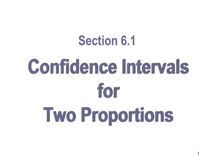 Confidence intervals for two proportions