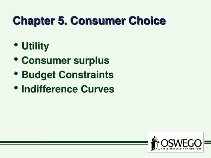 chapter 5 consumer choice n.