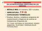 t cnicas y procesos en las instalaciones singulares en los edificios