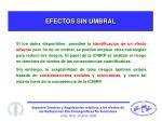 efectos sin umbral