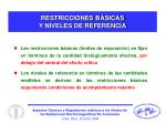 restricciones b sicas y niveles de referencia
