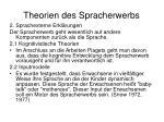 theorien des spracherwerbs1