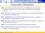 association milestones
