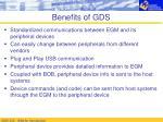 benefits of gds