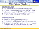 bob protocol simulators