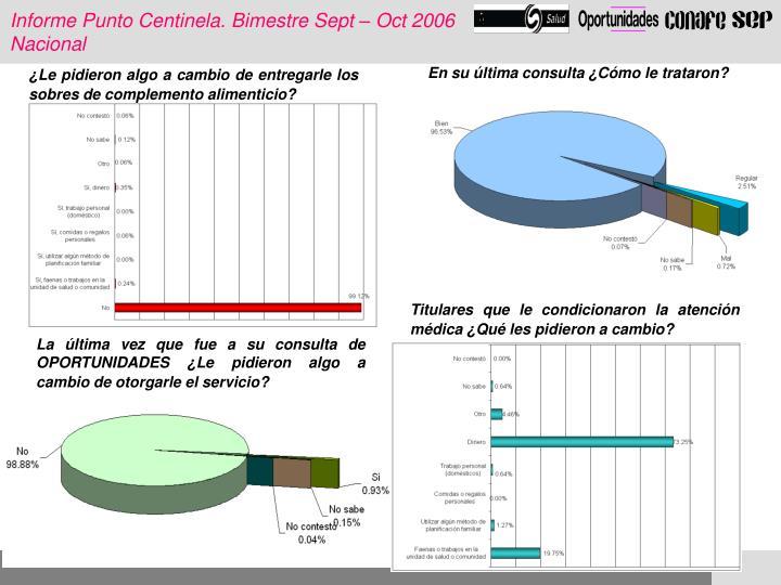Informe Punto Centinela. Bimestre Sept – Oct 2006
