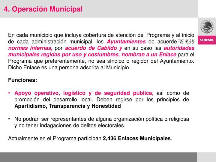 4. Operación Municipal