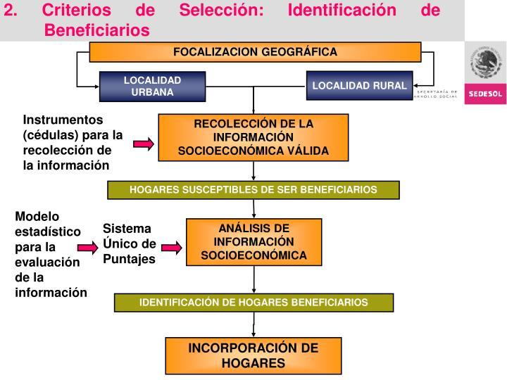 2. Criterios de Selección: Identificación de Beneficiarios