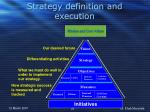 strategy definition and execution