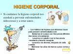 higiene corporal