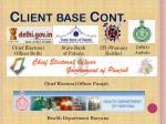 client base cont