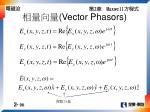 vector phasors