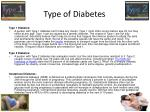 type of diabetes