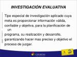 investigaci n evaluativa