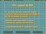 1997 rapport du men