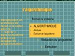 l algorithmique