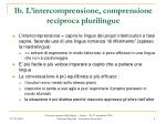 1b l intercomprensione comprensione reciproca plurilingue